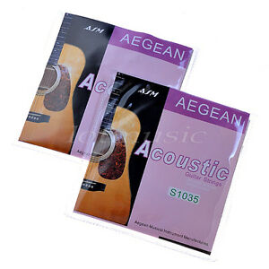 2-Sets-Acoustic-Guitar-Strings-Set-Brass-Wound-010-047-Inch