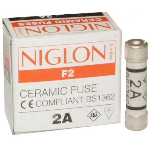 Nouveau pack 2 x 2 Amp 2A ménage plug fusible FUSIBLES céramique
