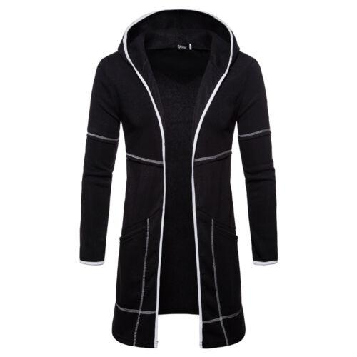 2019 Men Spring Long Sleeve Plain Hoodie Warm Coat Jackets Fashion Hoody Top USA