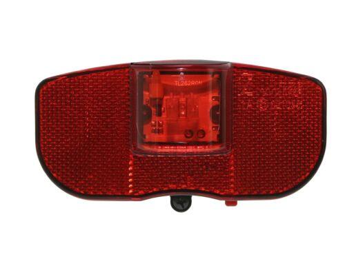 BICICLETTA LED Batteria Fanale retrovisore per Portapacchi-montaggio incl riflettore