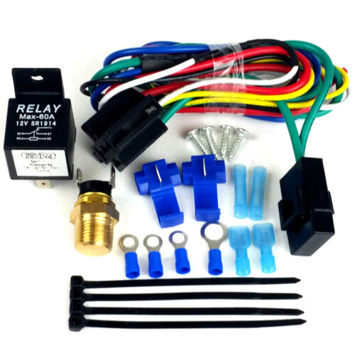 Pre Set 180 Degrees ON Single Stage Fan Relay Kit Works with Dual Fan Setup