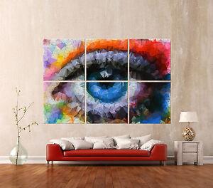 Das Bild Wird Geladen ABSTRACT EYE Leinwand Wandbild Bilder  Bild Abstrakt Kunstdruck