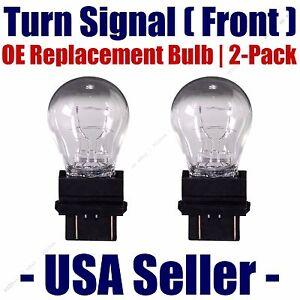 Fits Listed Pontiac Vehicles 3457NA//3357NA Front Turn Signal Light Bulb 2pk