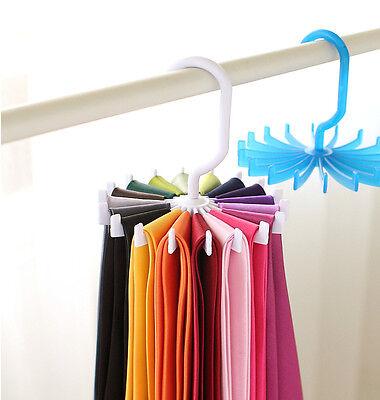Rotating Ties Rack Adjustable Tie Hanger Holds 20 Neck Ties Scarf Organizer Men