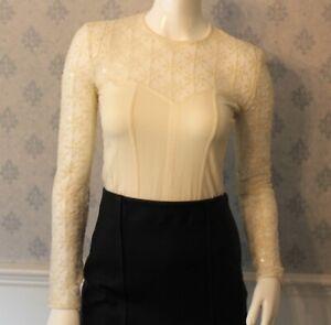 Vintage-1990s-Escada-Ivory-Sequin-Snowflake-Sheer-amp-Cotton-Long-Sleeve-Bodysuit