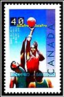 CANADA 1991 CANADIAN RDS TSN BASKETBALL JAMES NAISMITH FV FACE 40 CENT MNH STAMP