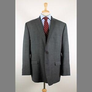 Ralph-Lauren-50L-Gray-Solid-100-Wool-2-Button-Sport-Coat