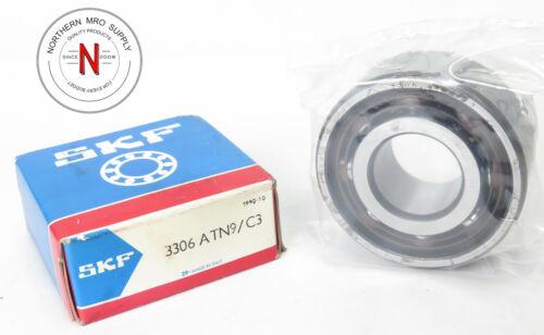 ANGULAR CONTACT BEARING 30mm x 72mm x 30.1mm SKF 3306-ATN9//C3 DOUBLE ROW