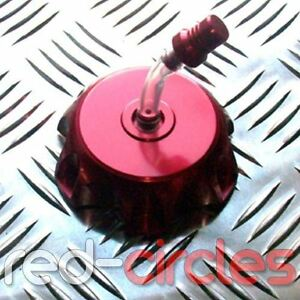 RED CNC PIT BIKE ALLOY FUEL CAP 50cc 110cc 125cc PITBIKE