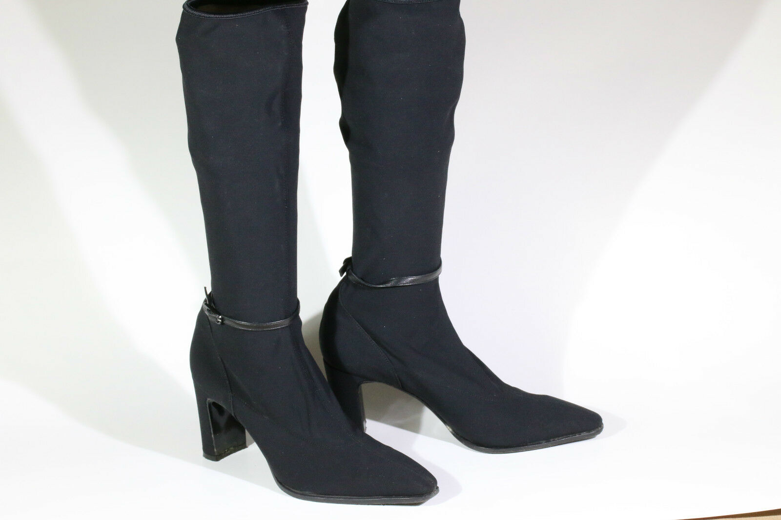 Versace Stiefletten schwarz Größe 38 ca. 8cm Absatz dif. - AVS10007 NC3