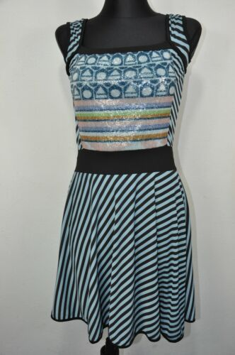 Save the Queen Striped Dress Womens size M