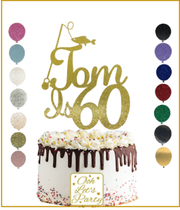 Graduation Cake Topper Choose Your Name Custom Personalised Glitter