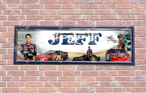 Personalized Customized Jeff Gordon Name Poster Sport Banner with Frame