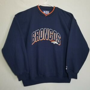 Vintage NFL Denver Broncos V-Neck Starter Sweater Size XL Navy Blue ... 4e7a14131