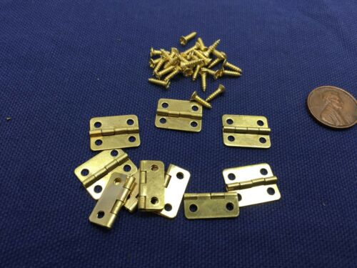 10 Pieces Gold Cabinet Mini Hinge Dollhouse Wood Door Butt M01152 small b7