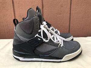 1508092d2e3b Nike Jordan Flight 45 High GS Kids BasketBall Sneakers Shoes 524865 ...