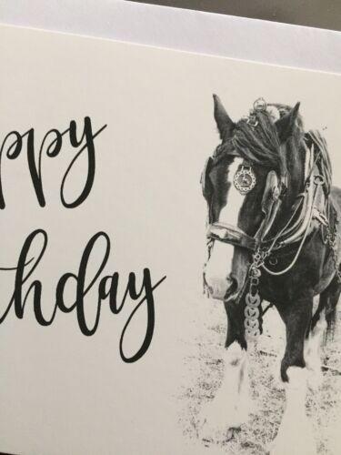 2 Pack blank Inside ref:PHBBK Horse Happy Birthday Cards