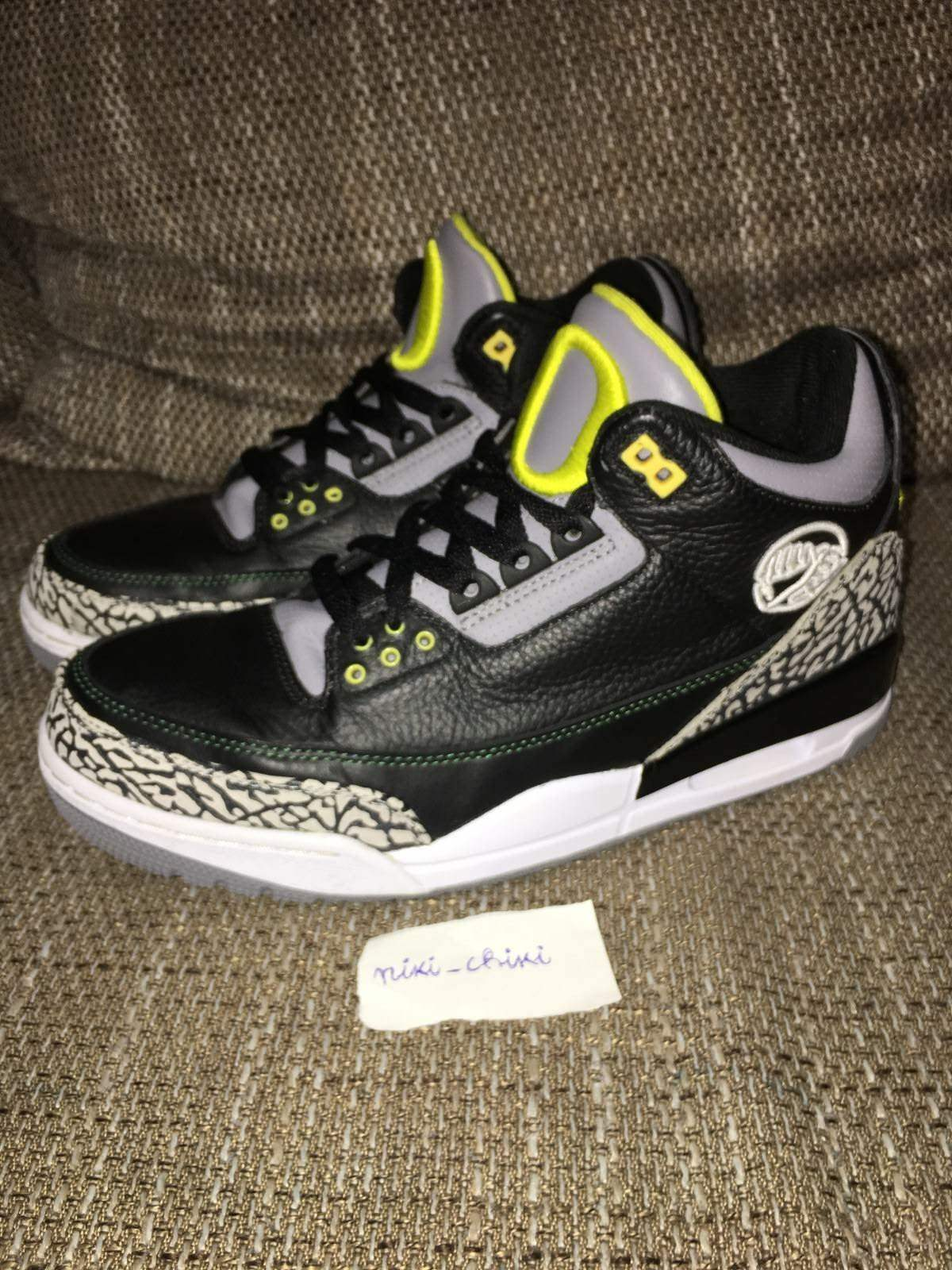 Nike Air Jordan 3 III Retro Oregon Ducks Pit Crew US 10.5 Concord Bred Cement 11