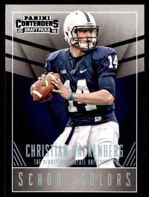 2016 PANINI CONTENDERS SCHOOL COLORS CHRISTIAN HACKENBURG PENN STATE NITTANY