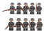 miniature 6 - 21pcs WW2 Minifigures Army Soldiers British Russia Japan US Military