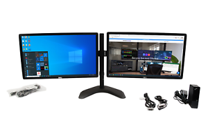 Matching-Dual-Monitor-on-Heavy-Duty-Stand-amp-Dock-HP-Samsung-Viewsonic-NEC-16-9