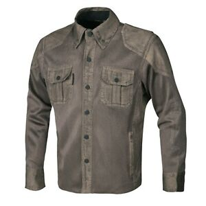 Mens-Biker-Rider-Mesh-Shirt-Cotton-Wax-Vintage-Made-with-Kevlar-Large-Motorcycle