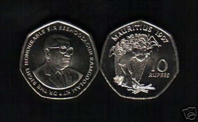 Mauritius 10 Rupees, 1997 for sale online | eBay