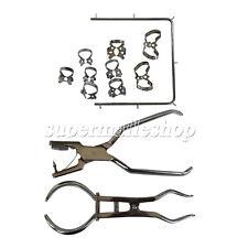 12pcsset Dental Basic Rubber Dam Kit Surgical Instruments Stainless Steel