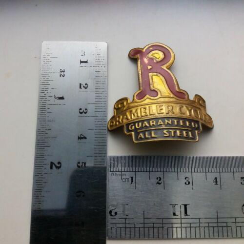 RAMBLER Emblem Head Badge 1980/'s For Vintage Bicycle NOS