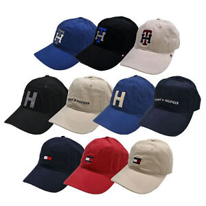 40f6035a701 Tommy Hilfiger Hat Baseball Cap Logo Unisex Mens Womens Adjustable ...