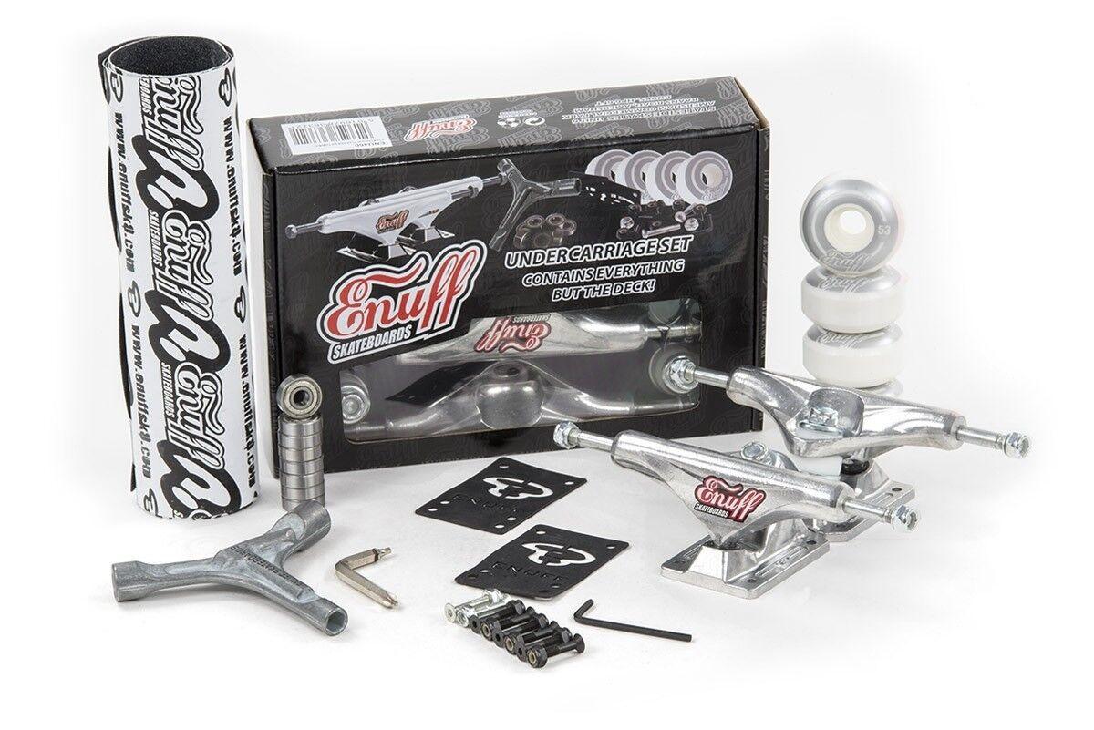 Enuff Enuff Enuff Decade Pro Skateboard Kastenwagen Set Roh Silber Grip/Reifen/Lager/ 2ce3b6