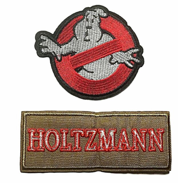 Ghostbusters Name Tag Set of 4 Embroidered Iron On Patches