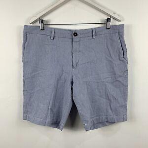 Ermenegildo-Zegna-Mens-Shorts-Size-2XL-W38-Blue-Stripe