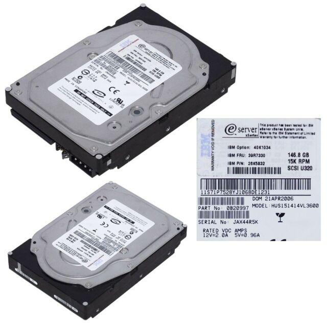 IBM FRU 39R7330 146GB 15K SCSI U320 # 26K5832 ....