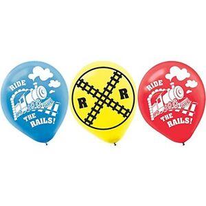 Thomas-the-Tank-Party-Supplies-Thomas-Printed-034-Ride-the-Rail-034-30cm-Balloons-6pk