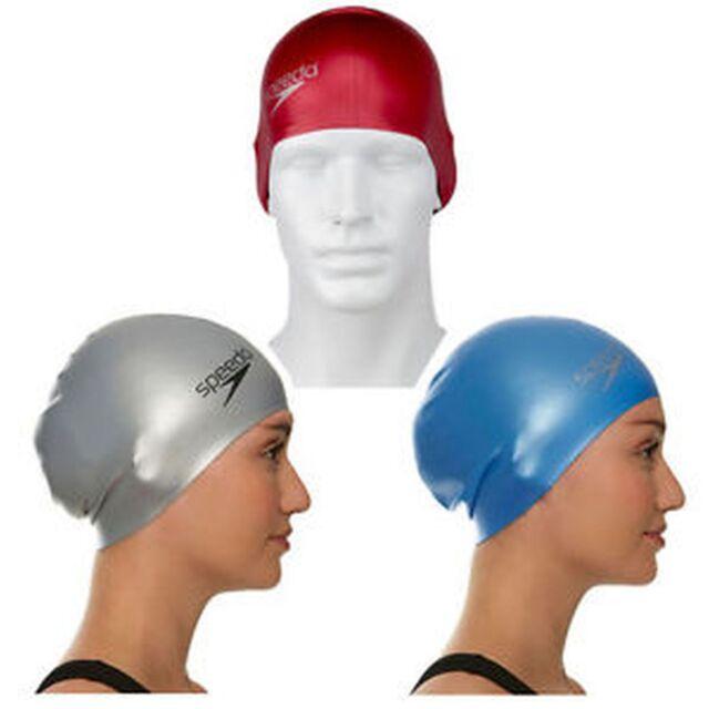 1d3ef7cfa55 Speedo Long Hair Swim Cap Silicone Adult Swimming Larger Sized Caps ...