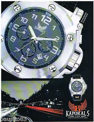 Knowledgeable Publicite Advertising 095 2008 Kaporals Time Collection Montres Limpid In Sight Collectibles Other Breweriana