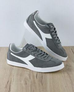 Diadora-Scarpe-Sportive-Sneakers-Sportswear-Uomo-Grigio-Pitch-Pelle-Scamosciat