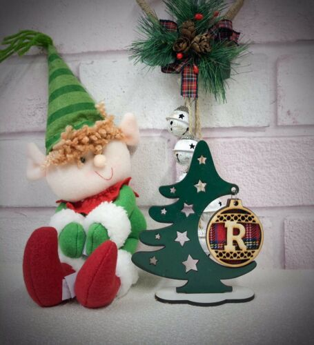Personalised Initial Christmas Bauble Tree Decoration Ornament All Letters