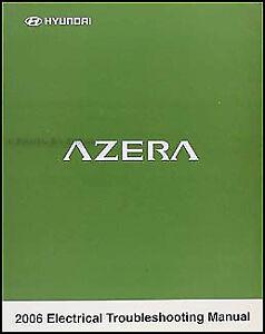 2006 Hyundai Azera Electrical Troubleshooting Manual Original OEM Wiring  Diagram | eBayeBay