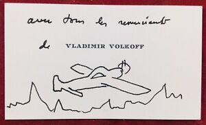 Vladimir-Volkoff-Dessin-Carte-de-visite-destinee-a-Leon-Treich-Journaliste
