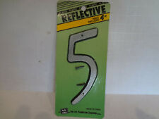 """#6 Silver HyKo 20404116 Numbering Reflective Plastic 4/"""""""