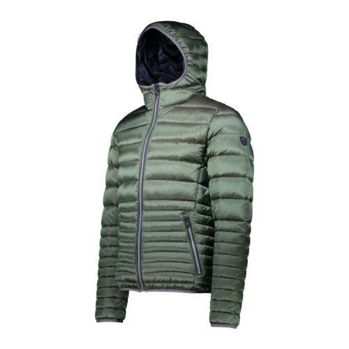CMP Daunenjacke Jacke MAN JACKET ZIP HOOD grün wasserabweisend atmungsaktiv