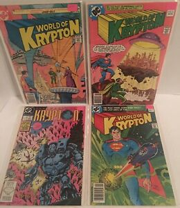 The World Of Krypton # 1 2 2 3 Superman Comics DC 1988 Bagged Amd Backed