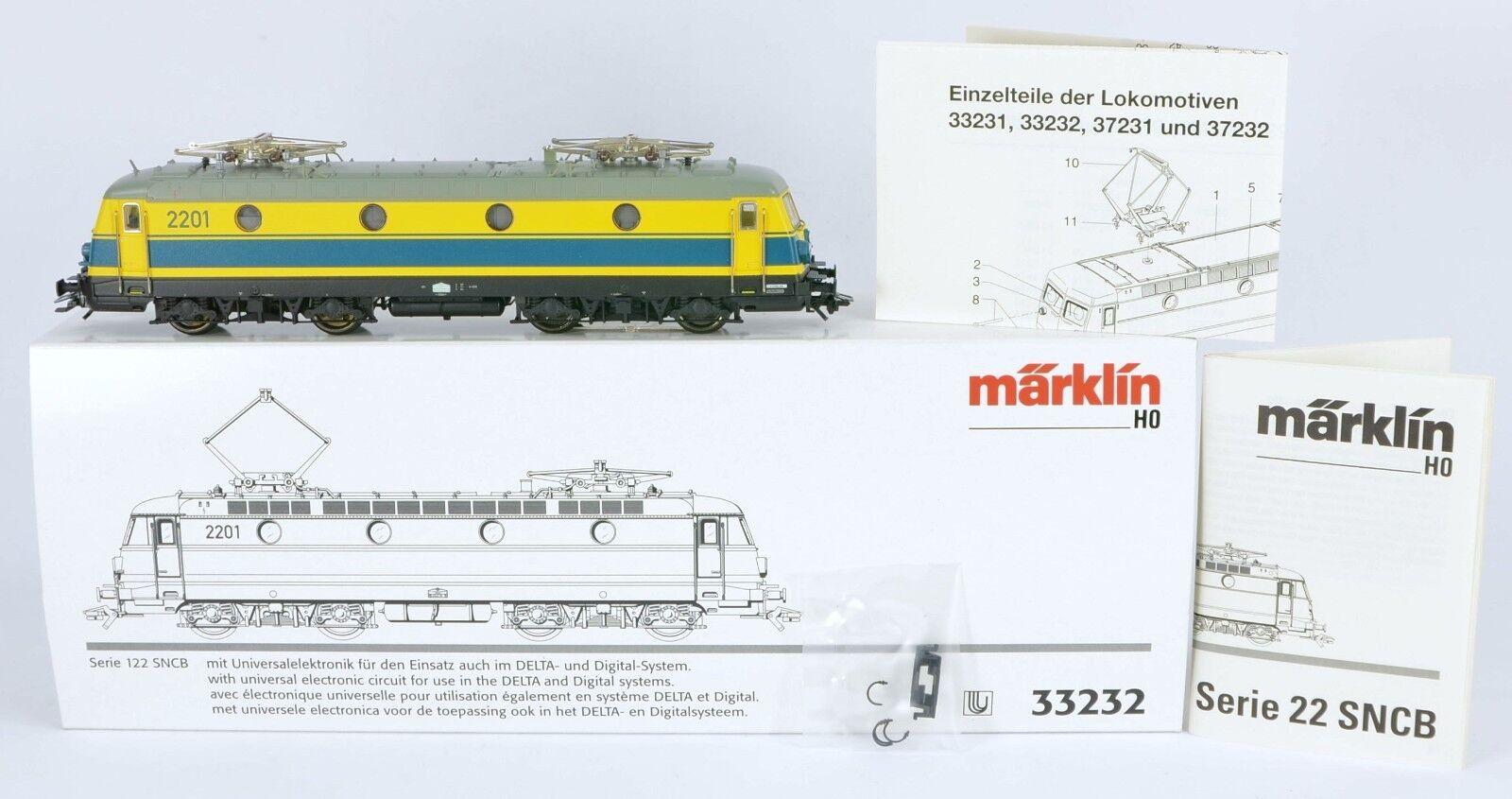 DIGITAL MARKLIN 33232 MAINLY METAL SNCB BELGIUM 122 EX RUNNER V Nr MINT BOXED