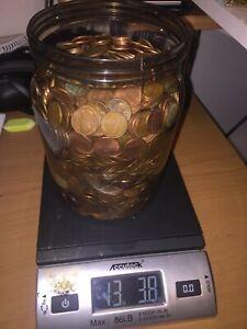 1500 95/%  COPPER  U.S.PENNIES $15 Face Value Coins coins 10 LB