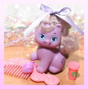 ❤️Vtg Mattel Little Pretty KITTY My Little Pony LILA Perfume Pets Lily COMB❤️