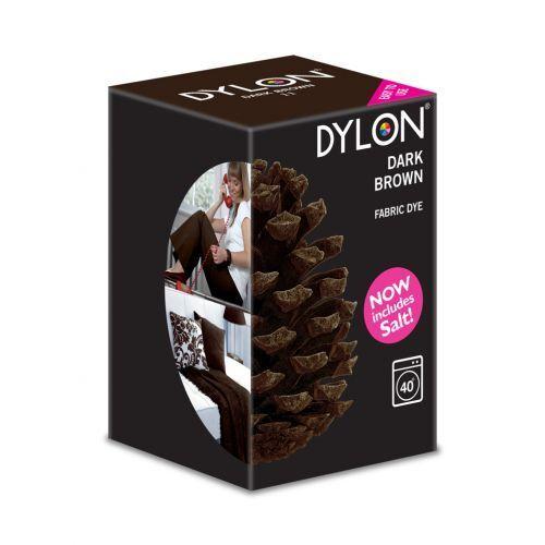 DYLON Dark Brown Machine Dye 350g New Formulation Includes Salt!