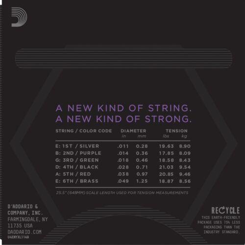 D/'Addario  NYXL1149 11-49 Medium Electric Guitar Strings 115