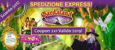 Buono 2x1 Gardaland 2019-2 Biglietti al Prezzo di 1 MAGICO VALIDO PER IT